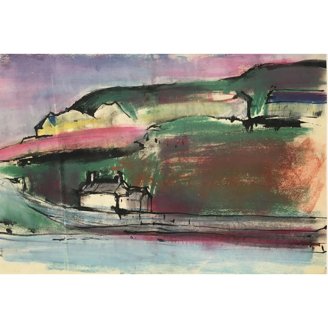 Abstract England South Coast, Abstract Modern Landscape – Robert Kitts, C.1950 For Sale - Image 3 of 3