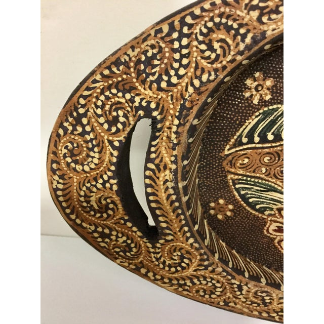 Hand Painted Wooden Trinket Plate For Sale - Image 4 of 11