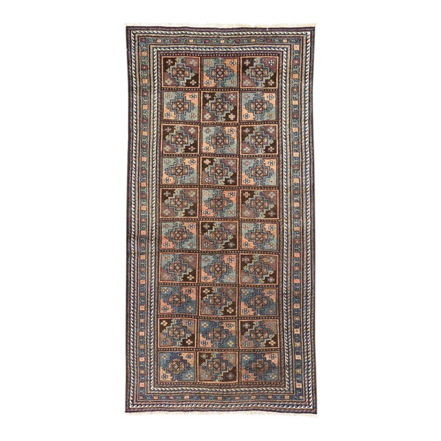 Vintage Shiraz Persian Rug with Mid-Century Modern Style For Sale