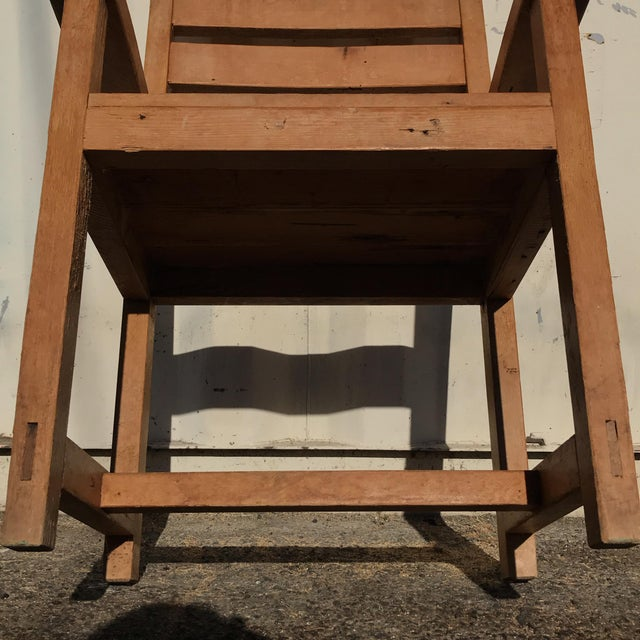 1990s Hand-Made Rustic Chair For Sale - Image 9 of 10