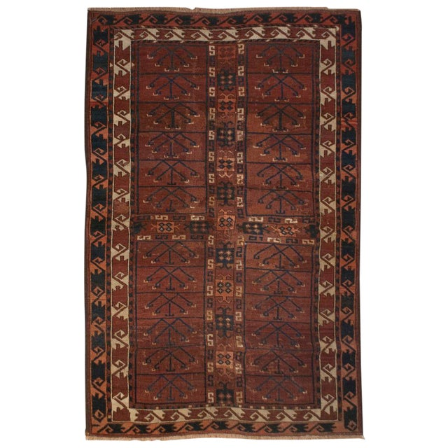 19th Century Bashir Rug - 3′7″ × 5′ For Sale