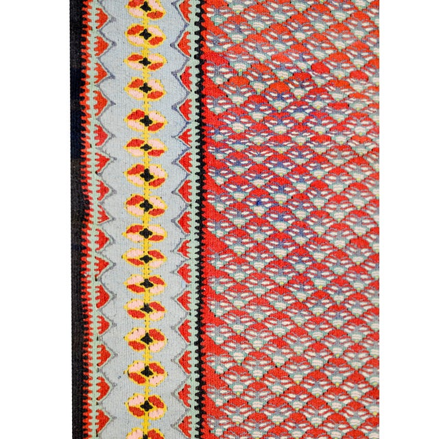 Midcentury Senneh Kilim Rug For Sale In Chicago - Image 6 of 8