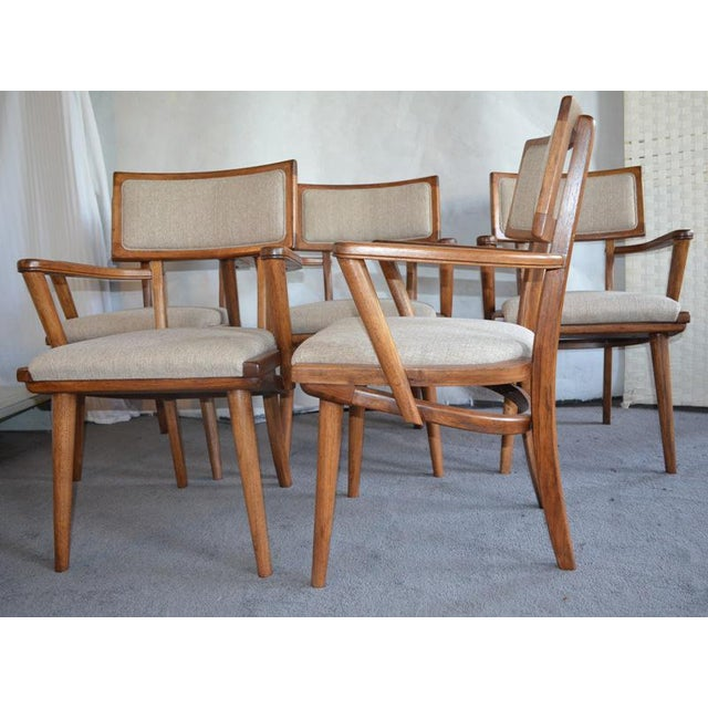 Mid Century Ash Chairs - Set of 5 For Sale - Image 9 of 10