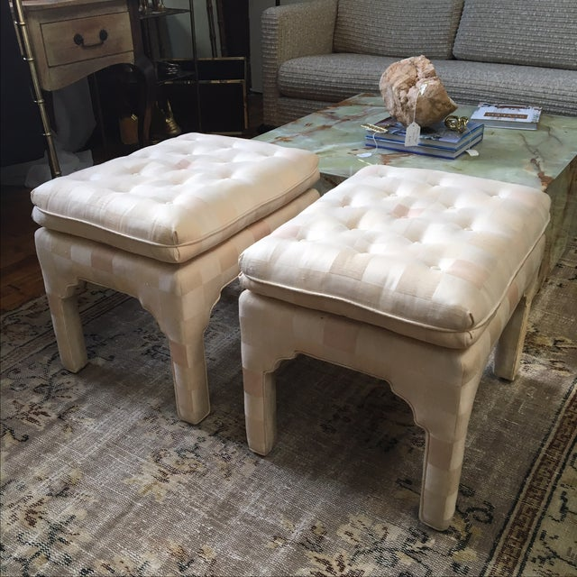 Tufted Moroccan Style Ottoman Benches - Pair For Sale - Image 5 of 7