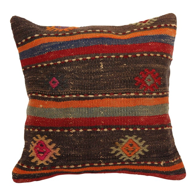turkish vintage kilim pillow decorative handmade cover 16 x 16 chairish. Black Bedroom Furniture Sets. Home Design Ideas