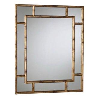 Brass Gold Leaf Bamboo Mirror