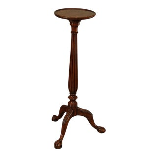 Theodore Alexander Althorp Mahogany Ball and Claw Pedestal Stand For Sale
