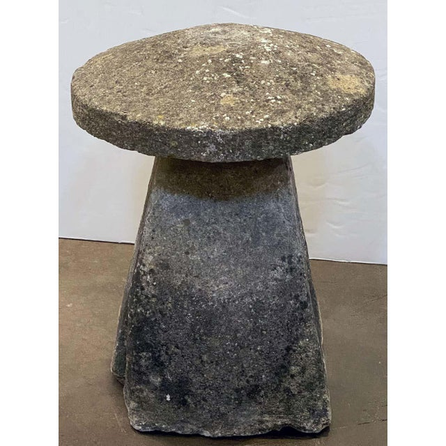 Large English Steddle or Staddle Stone for the Garden For Sale - Image 11 of 13