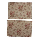 Image of Vintage 1940's French English Country Cottage Style Faded Floral Fabric - Set of 2 For Sale