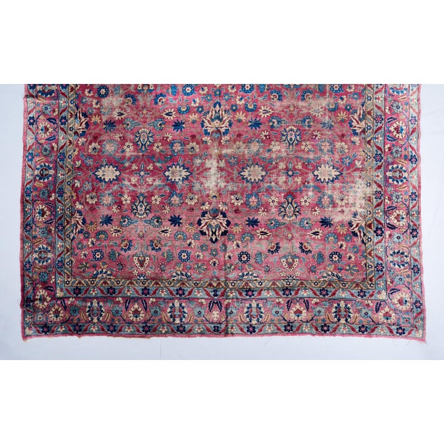 Late 19th Century Oversized Magenta Ground Khorasan Carpet For Sale - Image 5 of 6