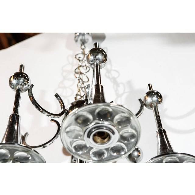Silver Italian Trumpets Chandelier by Sciolari For Sale - Image 8 of 9