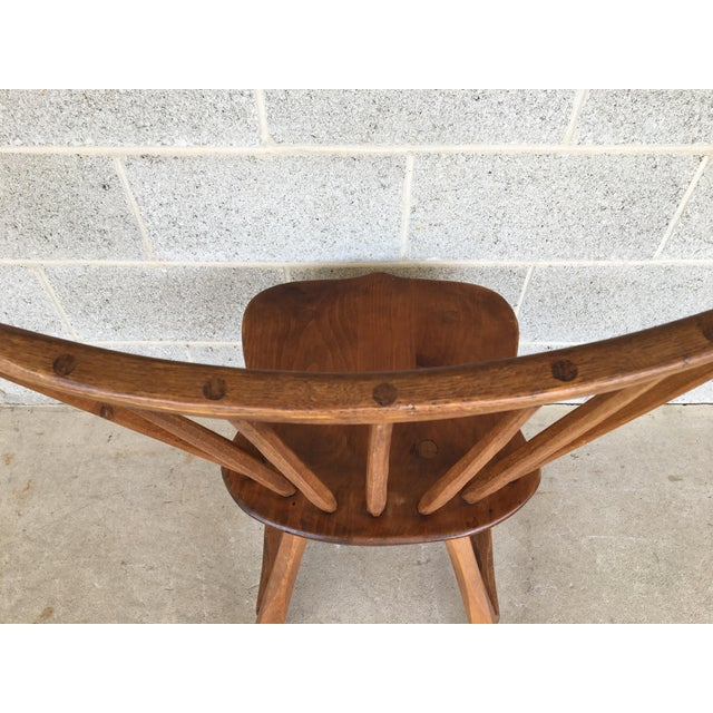 Brown Hunt Country Furniture Birdcage Dining Chairs/Windsor Chairs - Set of 6 For Sale - Image 8 of 12