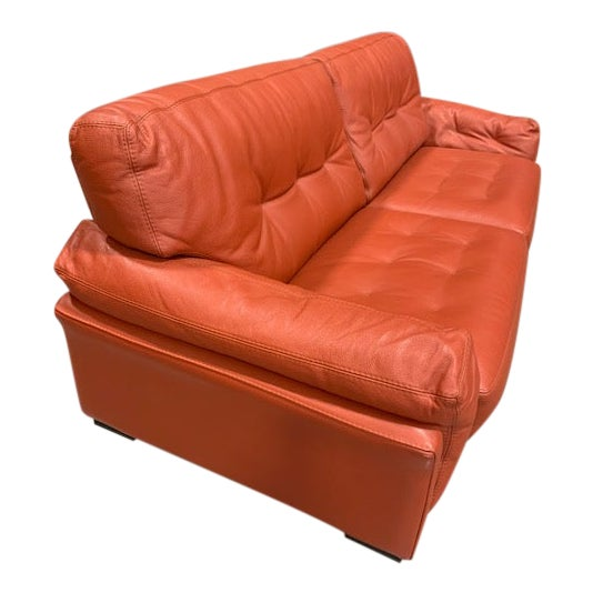 Roche Bobois Tomato Red Sleeper Sofa For Sale