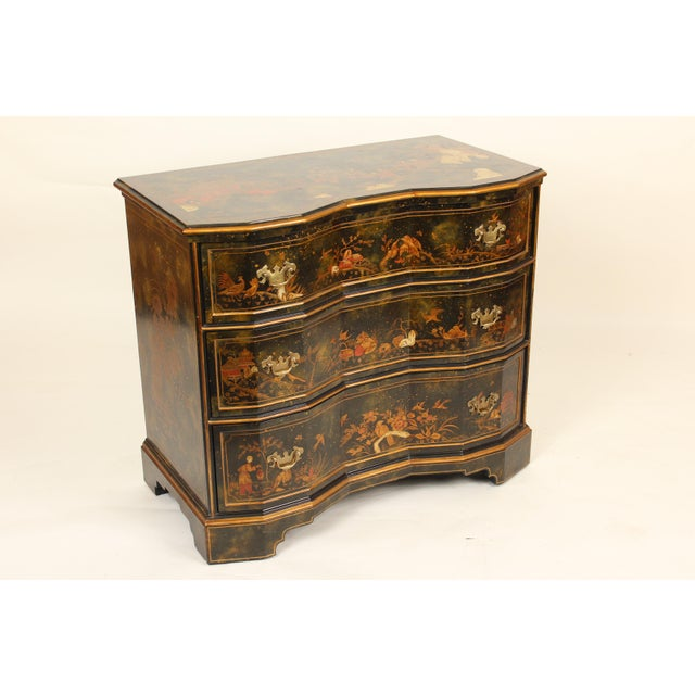2000s Chinoiserie Maitland Smith Decorated Chest of Drawers For Sale - Image 5 of 13