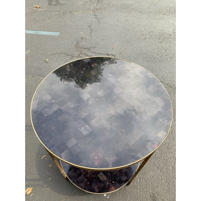 Oly Studios Jonathan Tortoise Shell Side Table For Sale In New York - Image 6 of 8