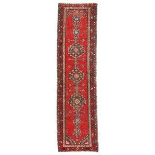 20th Century Persian Distressed Hamadan Hallway Runner For Sale