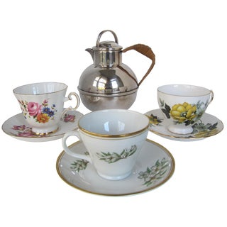 Tea Cups & Teapot for 3 For Sale