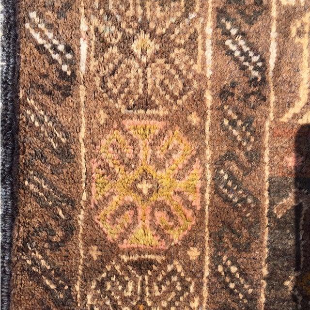 "Vintage Baluchi Persian Rug - 2'10"" x 4'1"" - Image 9 of 11"