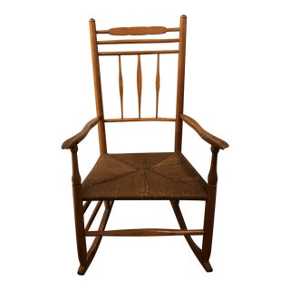 Traditional Cane Rocking Chair, 1800