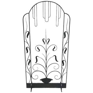 French Art Deco Iron Screen in the Manner of Edgar Brandt For Sale