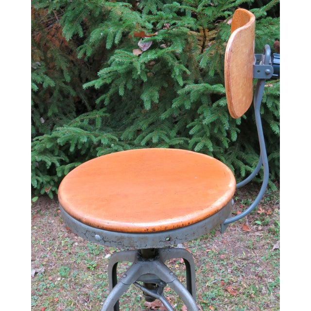 1940s Vintage Industrial Toledo Stool For Sale - Image 5 of 8