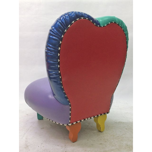 Memphis Memphis Inspired Slipper Chair by Harry Siegel For Sale - Image 3 of 7