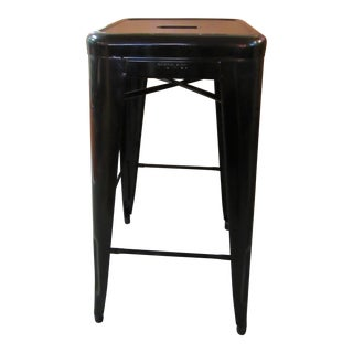 Tolix Marais Black Powder Coated Steel Bar Stool