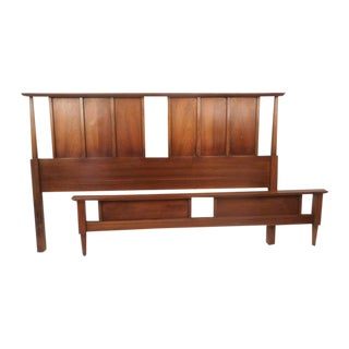 Midcentury Headboard and Footboard For Sale