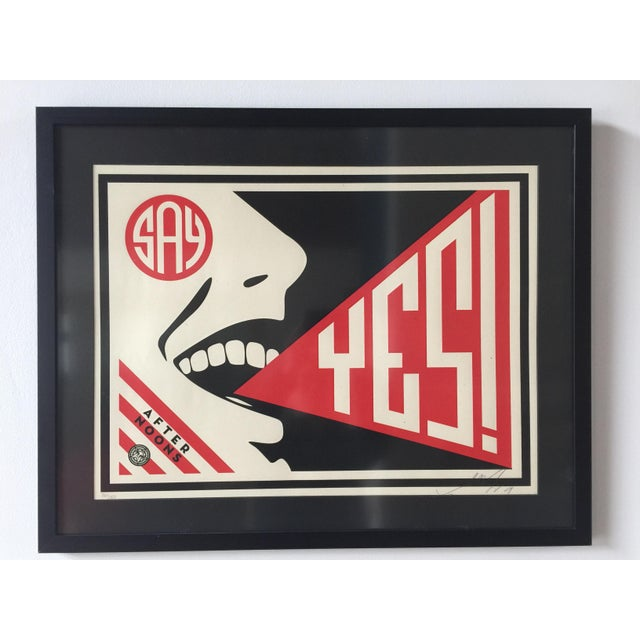 """Shepard Fairey """"The Afternoons Say Yes!"""" (86/150) Screen Print For Sale - Image 5 of 5"""