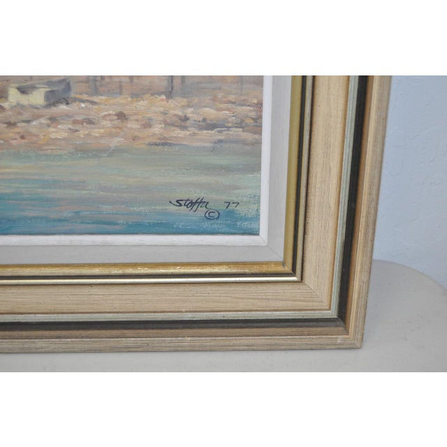 Rockport Massachusetts Oil Painting by Michael Stoffa For Sale - Image 4 of 9