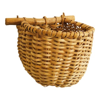 Vintage Wall Pocket Basket For Sale