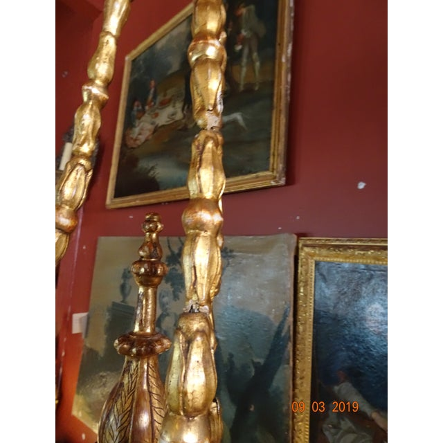 19th Century Italian Gilt Wood Chandelier For Sale - Image 9 of 13