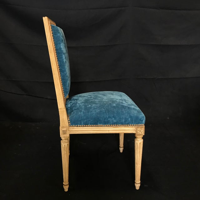 Classic 19th Century Louis XVI Dining Chairs Original Ivory Paint -Set of 8 For Sale - Image 12 of 13