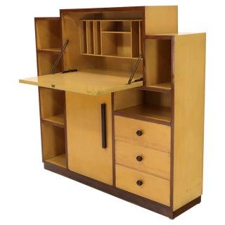 Skyscraper Style Drop Front Desk Secretary Bookcase Wall Unit Cabinet For Sale