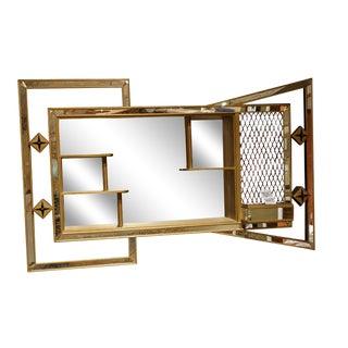 Mid-Century Bowtie Mirrored Shadowbox