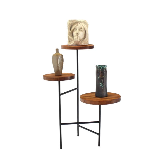 Tri Leg Three-Tier Side Display Table Planter For Sale