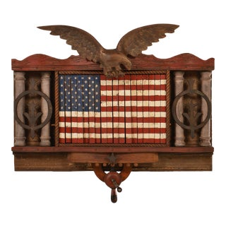 FOREVER SHE WAVES #2 Mechanical American Flag with Eagle For Sale