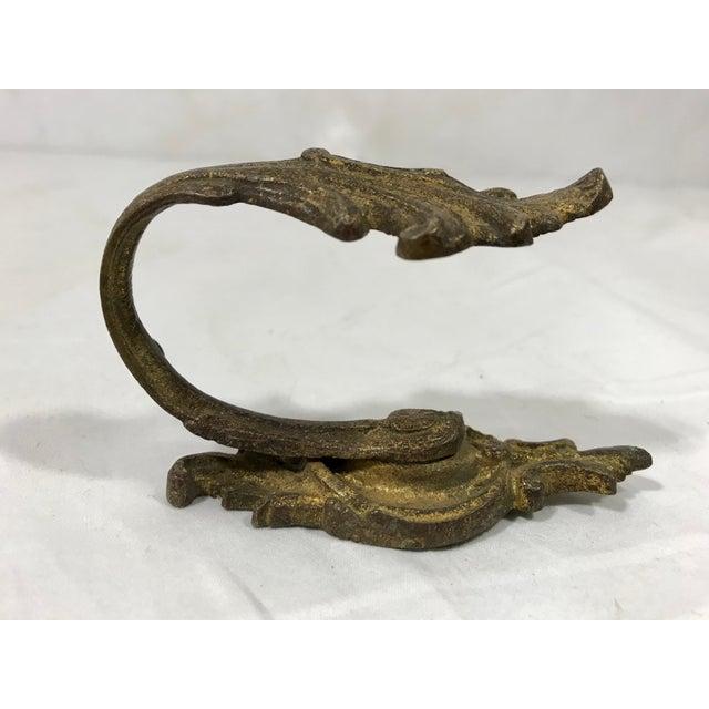 Napoleon III Bronze Dorè Drapery Tie-Backs a Pair For Sale - Image 6 of 12