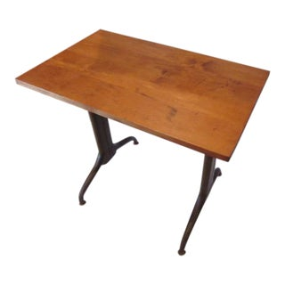 20th Century Industrial Side Table or Writing Desk For Sale