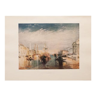 "Vintage Joseph William Turner ""Venice"" Lithograph For Sale"