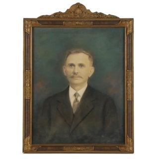 1900s Portraiture Framed Crayon Portrait