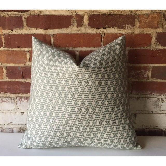 Robert Allen Sage Basket Weave Pillow Cover - Image 2 of 4