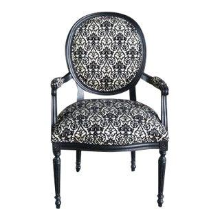 "Modern Ethan Allen French Louis Style ""Cassat"" Arm Chair For Sale"
