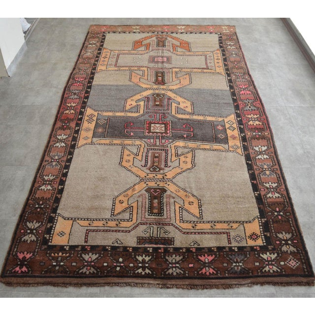 Art Deco 6x11 Kilim Rug Kurdish Runner Hand Knotted Full Tribal Design Area Rug - 6′3″ X 11′4″ For Sale - Image 3 of 7