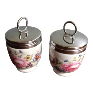 1970s Royal Worcester Egg Coddlers - a Pair For Sale