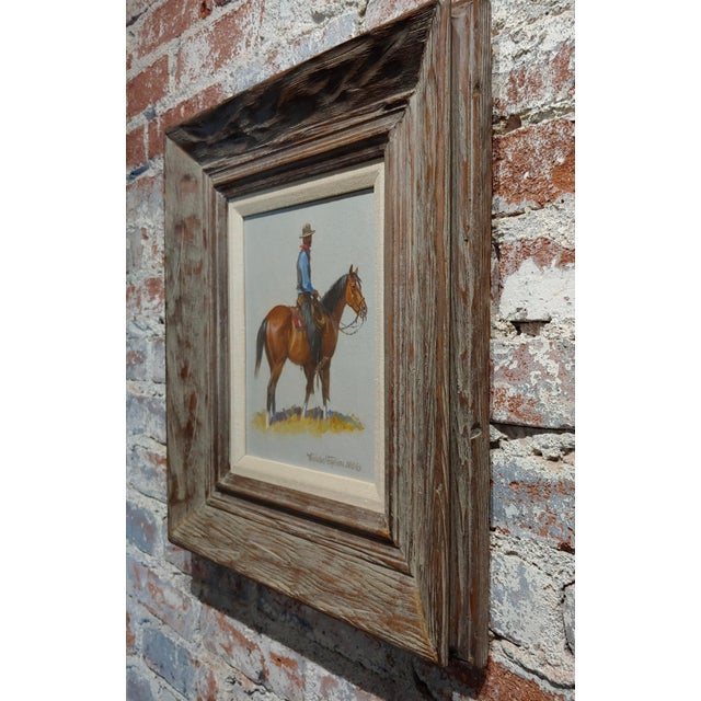 "1968 ""Cowboy"" Western Oil Painting by Nicholas Samuel Firfires For Sale In Los Angeles - Image 6 of 8"