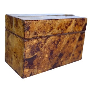 Tobacco Leaf Lidded Box For Sale