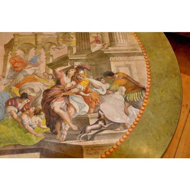 19th Century Italian Neoclassical Scagliola Center Table For Sale - Image 4 of 7