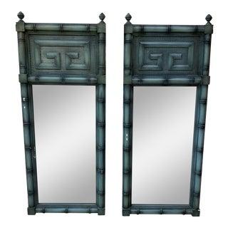 Dixie Greek Key Mirrors - a Pair For Sale