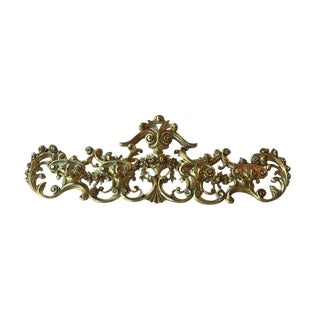 Late 19th Century Italian Hand Carved 22-Karat Gold Coat Rack For Sale